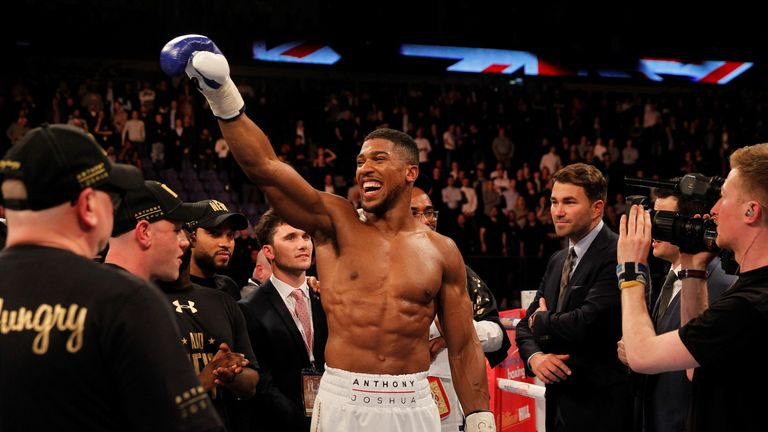 Anthony Joshua will be watched closely by heavyweight rivals on Saturday
