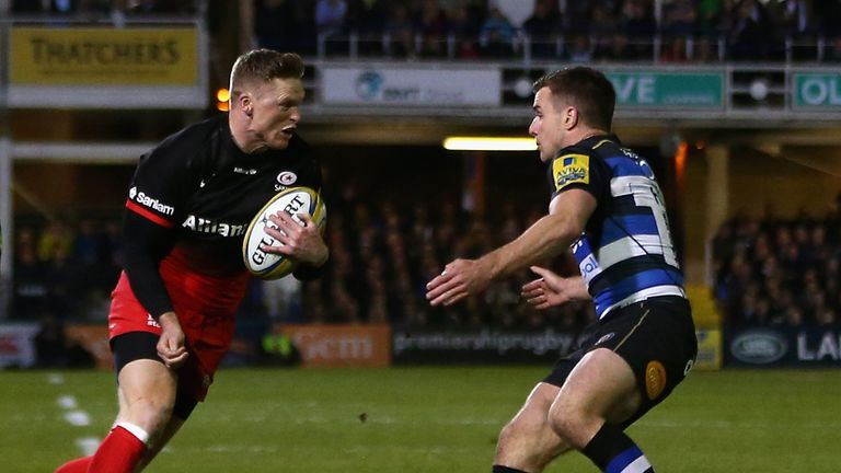 Chris Ashton bagged a brace on his return from suspension