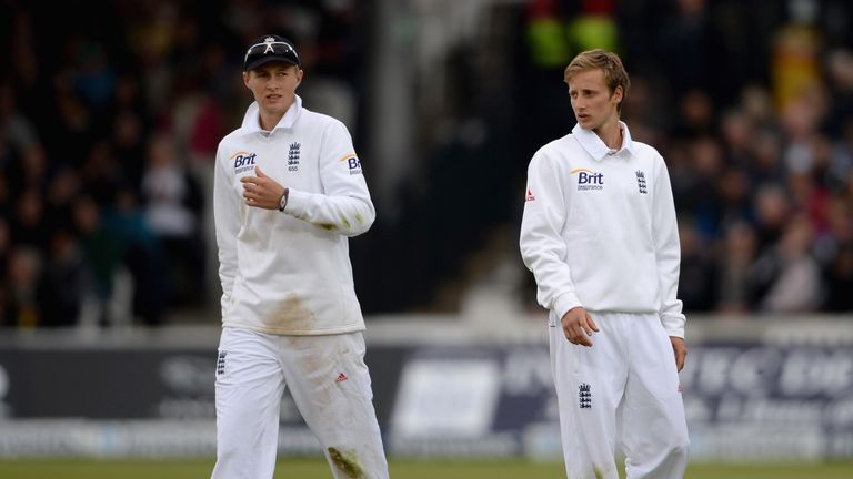 Billy Root (right) - brother of Joe (left) - came on as 12th man for England against New Zealand at Lord's last year