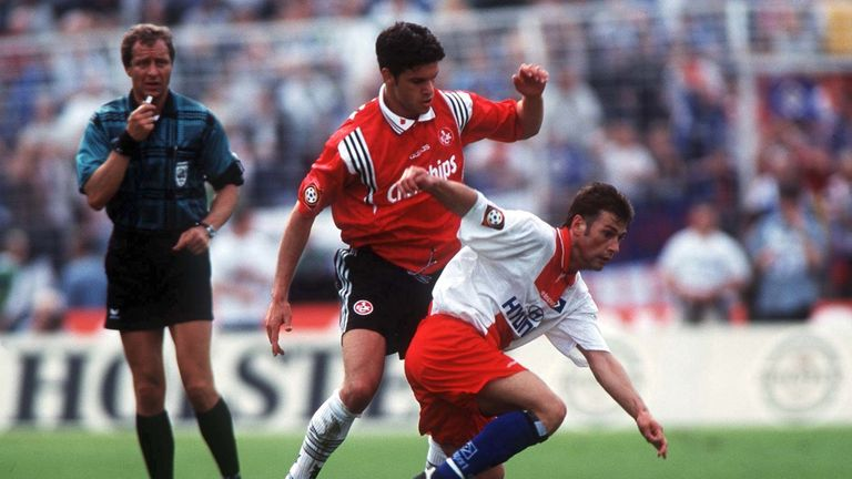 Michael Ballack (middle) was let go by Kaiserslautern to join Bayer Leverkusen