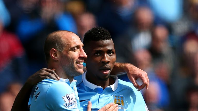 Iheanacho, pictured alongside Pablo Zabaleta, is still improving