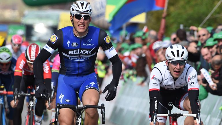 Marcel Kittel sprinted to victory on stage one