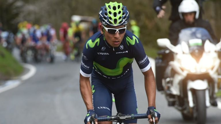 Nairo Quintana took the race lead on stage two