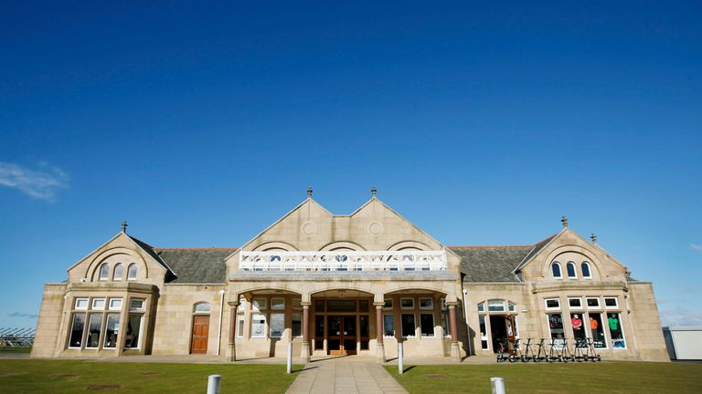 The clubhouse at Royal Troon Golf Club