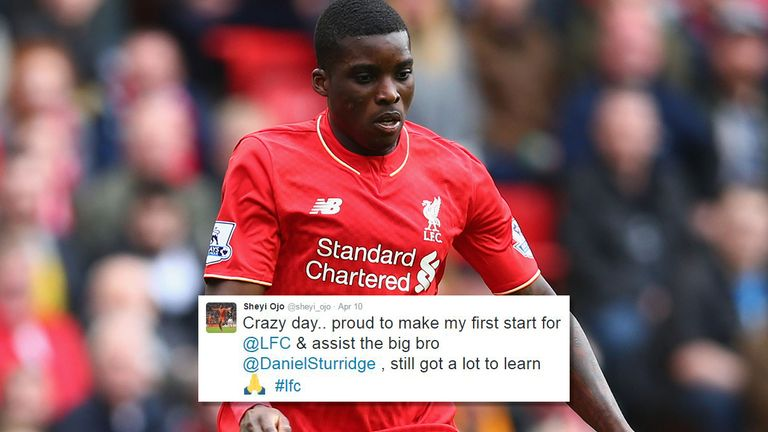 Ojo tweeted after his Premier League debut