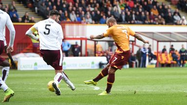 Lionel Ainsworth fires Motherwell ahead at Fir Park
