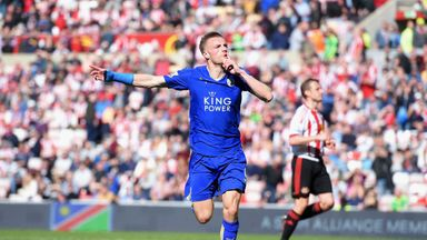Jamie Vardy has scored 22 goals in 36 Leicester appearances this term