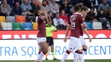 Josef Martinez  of Torino celebrates after scoring  his team's fifth goal