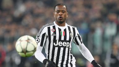 Patrice Evra joined Juventus from Manchester United in 2014