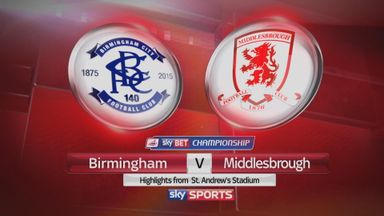 Birmingham 2-2 Middlesbrough