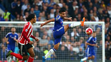 Radamel Falcao in action against Southampton on his only Premier League start for Chelsea