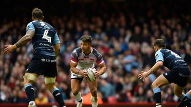 Rhys Webb scored twice in the final five minutes to hand Ospreys the win