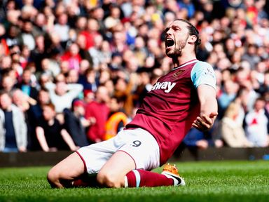 Andy Carroll: Set to start in attack for West Ham