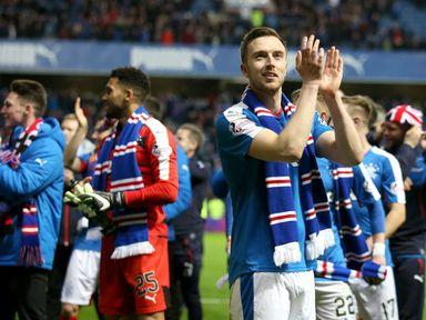 Rangers' Danny Wilson applauds the fans