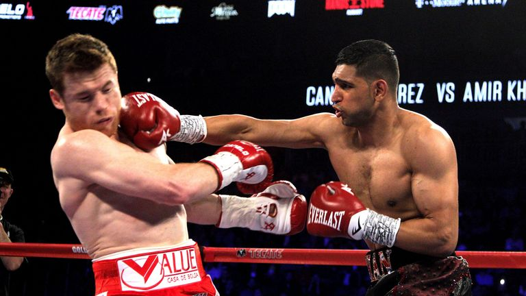 Khan stepped up in weight in his last fight against Canelo Alvarez but was stopped in six rounds by the WBC middleweight champion