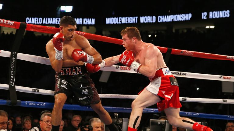 Amir Khan (left) lost to Canelo and the chance to out-perform his rival is key to Brook