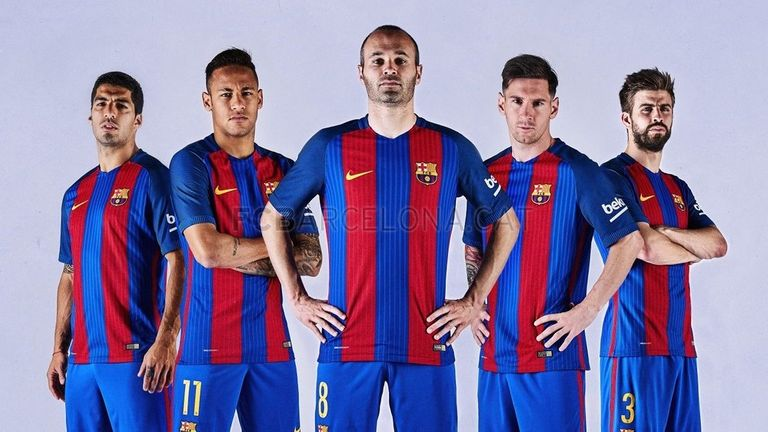 Barcelona released their new home kit on May 30 (Picture courtesy of fcbarcelona.com)