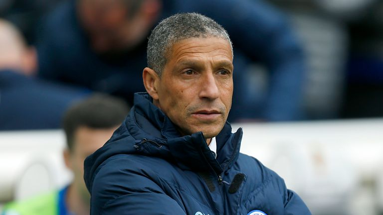 Brighton and Hove Albion Manager Chris Hughton.