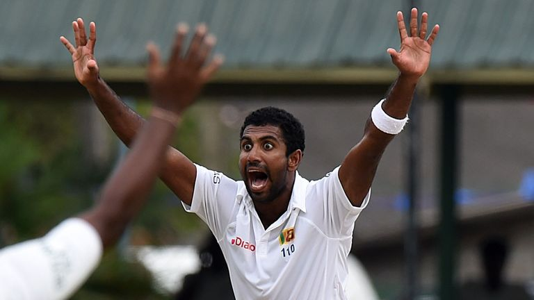 Dhammika Prasad was part of the bowling attack during Sri Lanka's last tour of England