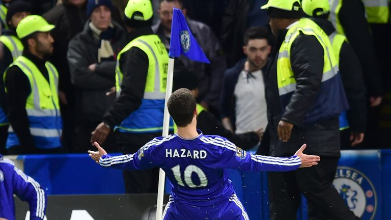Eden Hazard scored to earn Chelsea a 2-2 draw and knock Spurs out of the Premier League title race