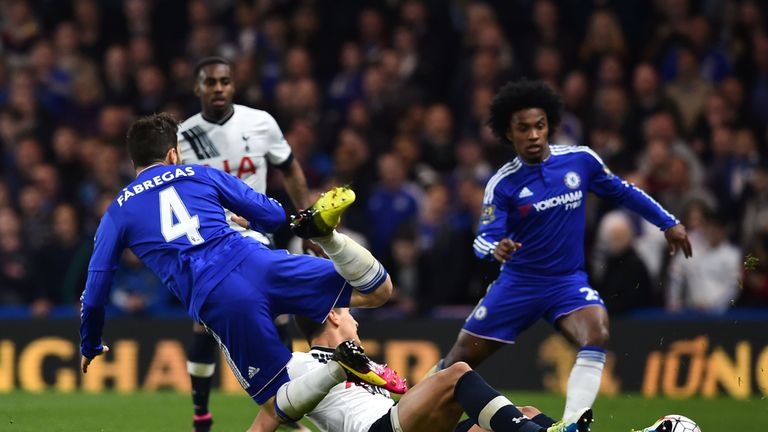 Erik Lamela and Cesc Fabregas were involved in several confrontations