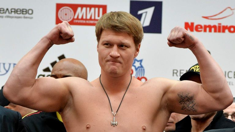 Alexander Povetkin was due to face Deontay Wilder in May