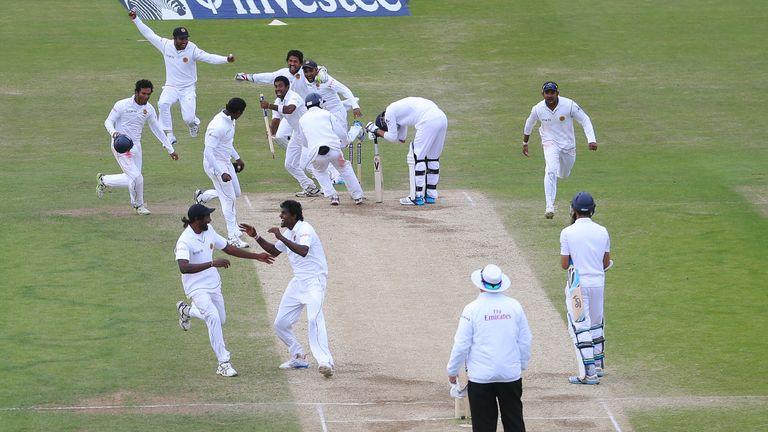 Sri Lanka celebrate victory at Headingley in 2014