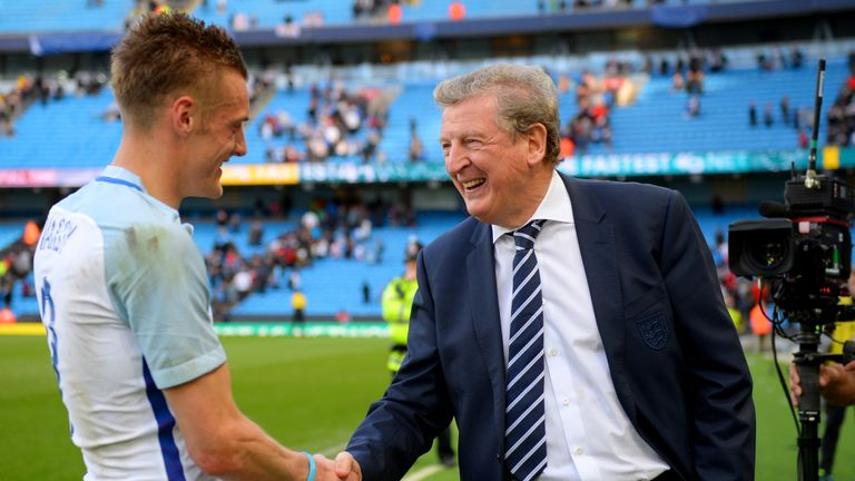Vardy is hoping to impress England manager Hodgson during training