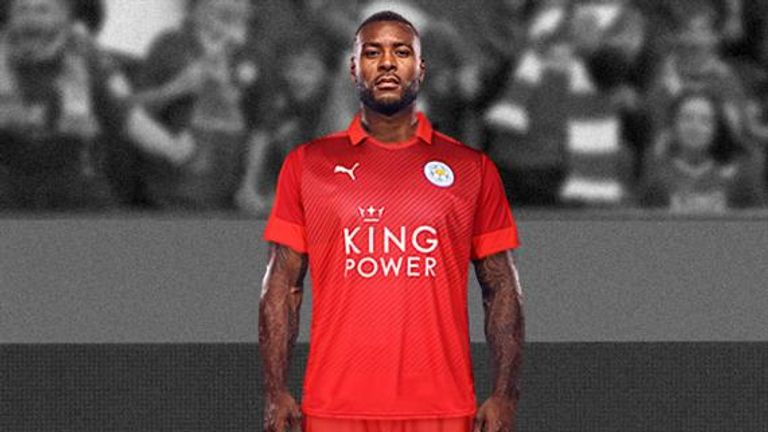 Leicester revealed their new red away kit late in May (image c/o Leicester City)