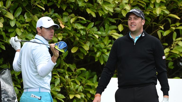 Southgate was grouped with Rory McIlroy during the event at the K Club