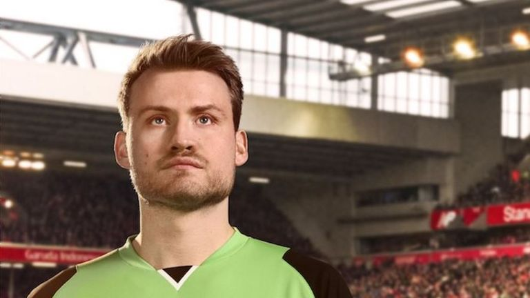 Simon Mignolet will wear lime green in goal next season (image c/o Liverpool FC)