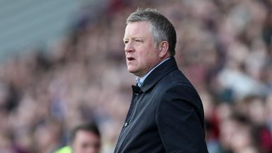 Chris Wilder will be without his striker for a month
