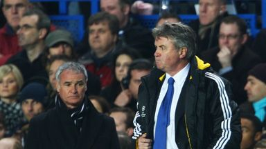 Claudio Ranieri (as Juventus coach) faced Guus Hiddink (as Chelsea boss) in 2009 in the Champions League