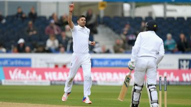 James Anderson was England's main man with the ball at Durham