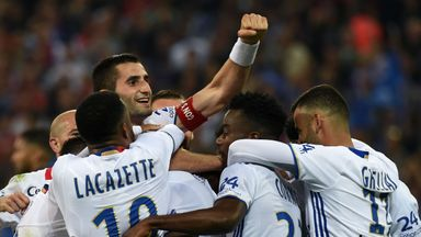 Lyon secured a Champions League place with a 6-1 thrashing of Monaco