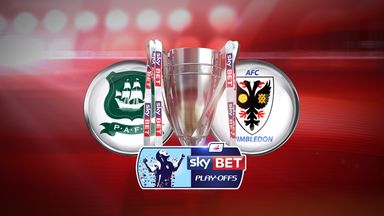 Plymouth face AFC Wimbledon in the Sky Bet League Two play-off final
