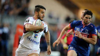Sofiane Guitoune scores Bordeaux's second try against Grenoble