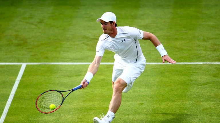 Andy Murray in action at last year's Aegon Championships