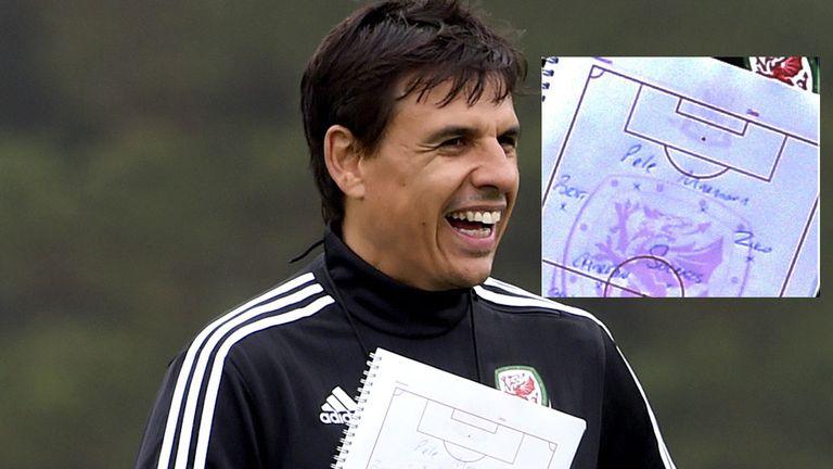 罗伊·霍奇森的笑话在英国训练,拿着迷你的到来