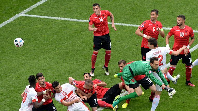 SWITZERLAND HUMBLES ALBANIA IN EURO 2016