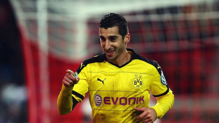 Mkhitaryan starred for Dortmund before joining Manchester United