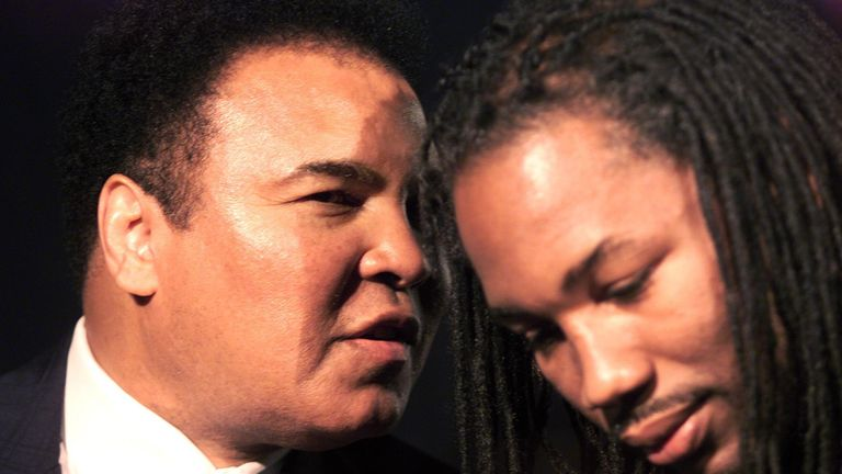 Muhammad Ali was an inspiration to Lennox Lewis