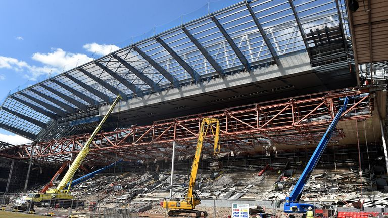 The work on the Main Stand cost between £60m and £70m