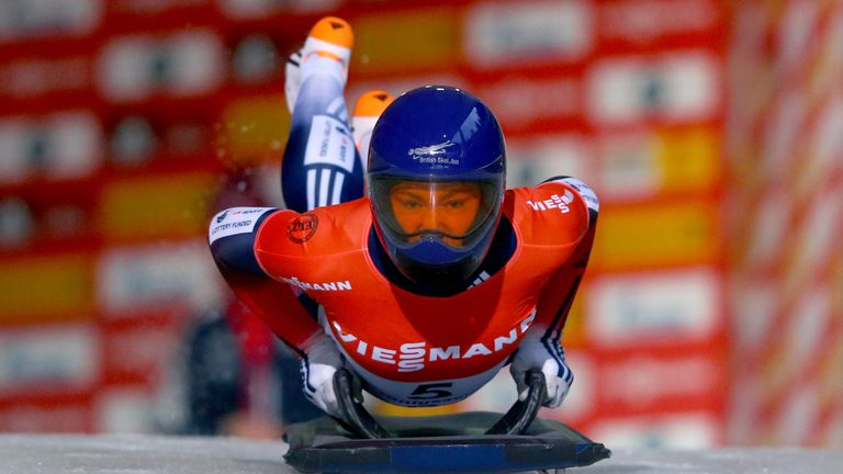 Lizzy Yarnold broke the track record in Lillehammer last month