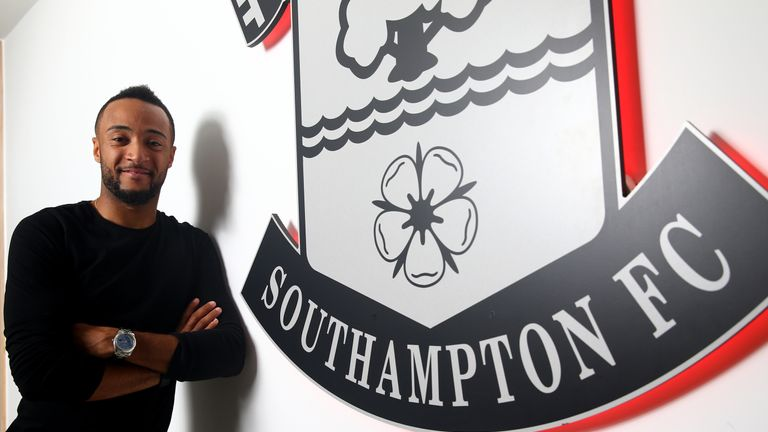 Nathan Redmond completing his transfer to Southampton from Norwich