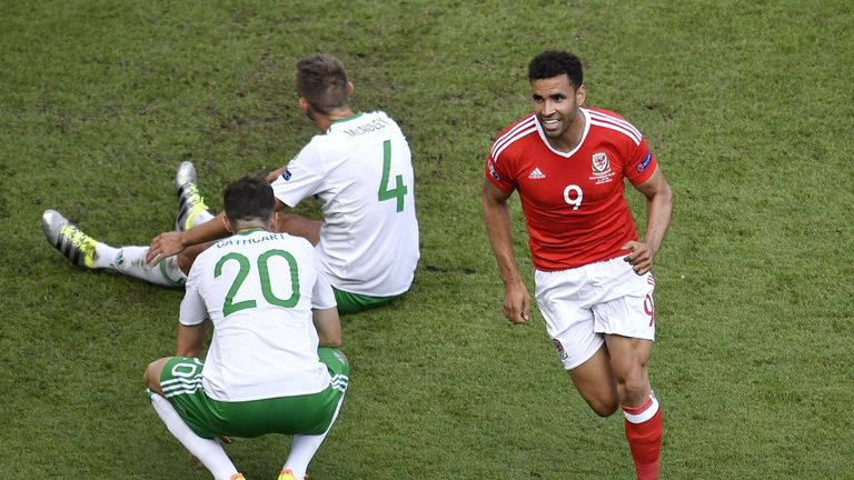 Hal Robson-Kanu was waiting to pounce behind Gareth McAuley when the Northern Ireland man turned home