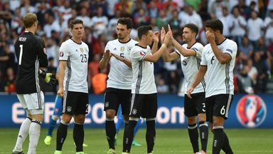 Germany celebrate a convincing win over Slovakia in the last 16