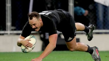 Israel Dagg gleefully crosses the line in Dunedin to cap off a fine performance from the full-back