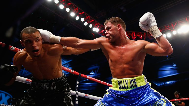 Billy Joe Saunders added the WBO middleweight title to the three domestic straps he held after beating Chris Eubank Jr