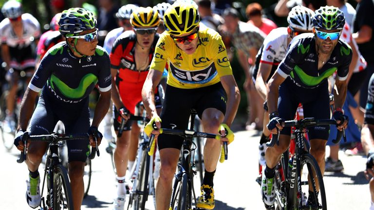 Froome could be run much closer by Nairo Quintana (left) next year